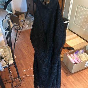 Black choker lace dress